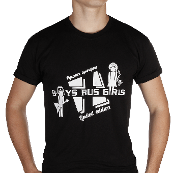 T-Shirt Boys Rus Girls schwarz